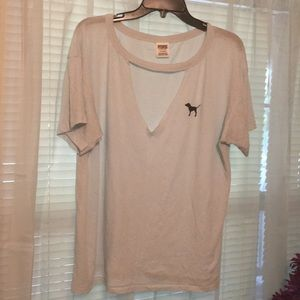 Tops - VS v tee with chocker style neck line